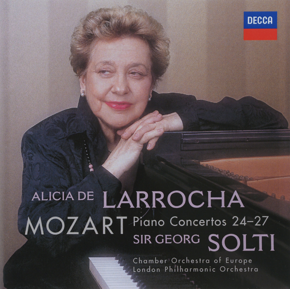 Алисия де Ларроча,Chamber orchestra of the Europe,Джордж Солти,London Philharmonic Orchestra Mozart. Alicia De Larrocha. Piano Concertos 24-27 (2 CD) рудольф серкин the london symphony orchestra chamber orchestra of the europe клаудио аббадо rudolf serkin mozart piano concertos 7 cd
