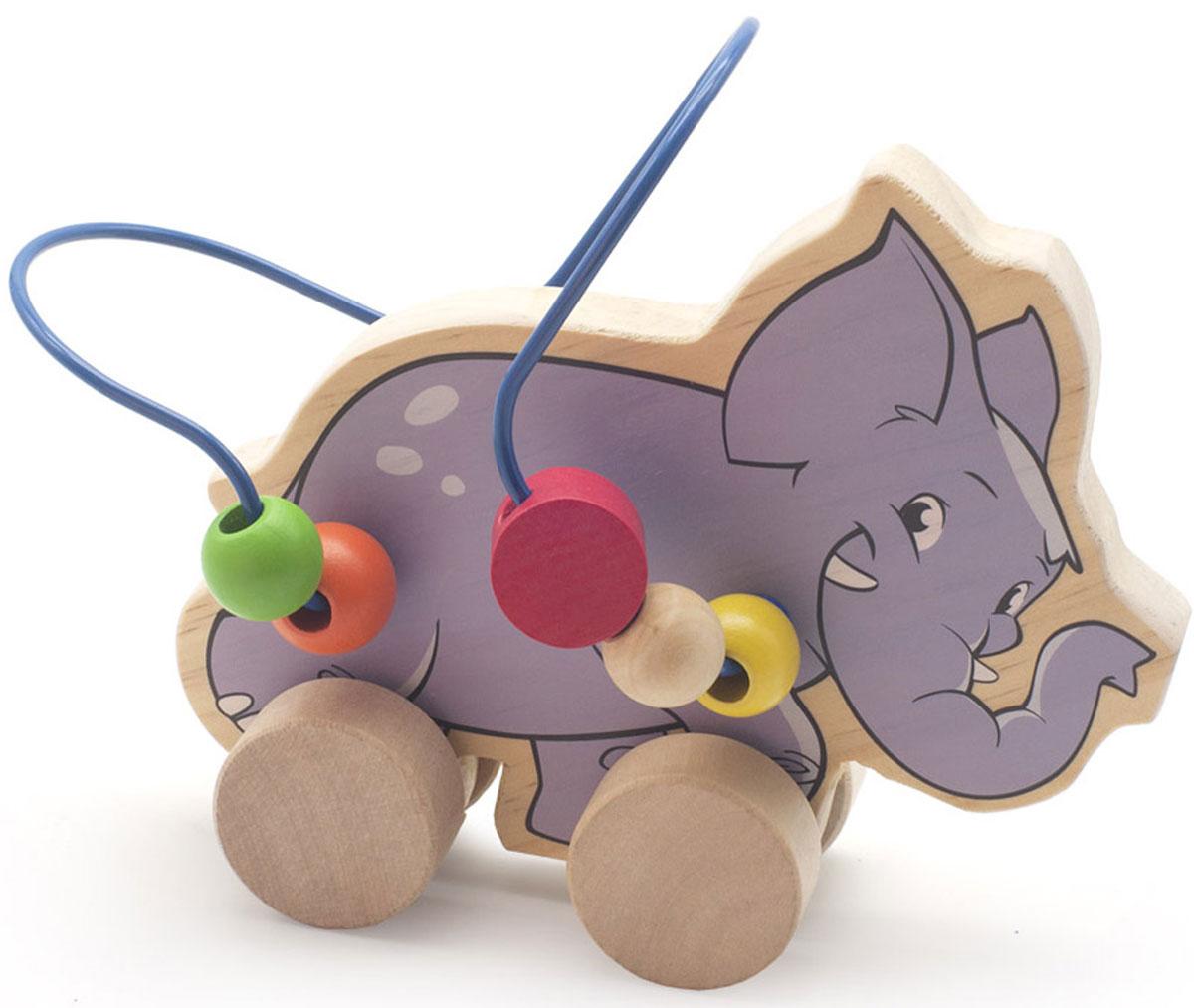Мир деревянных игрушек Лабиринт-каталка Слон игрушка мир деревянных игрушек лабиринт буренка д384