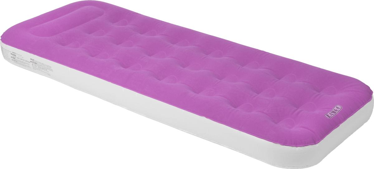 Кровать надувная Jilong Easigo, цвет: розовый, серый, 188 х 73 х 22 см предохранительный клапан для воздуха челябинск
