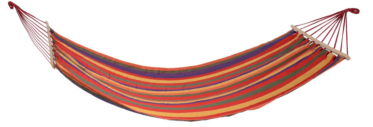 Гамак Wildman Оазис, 80 х 200 см81-172Прочный гамак Wildman Оазис, изготовленный из высококачественного хлопка и полиэстера, внесет дополнительный комфорт в ваш отдых на даче, в походе или на пикнике. Изделие оснащено деревянным каркасом.Гамак - место для отдыха, кровать, парящая над землей, ему всегда будут рады и на приусадебном участке, и в доме, и в квартире. Гамаки способны сделать уютным и удобным любой летний отдых. Поход в лес - и качественный гамак станет местом для сна. Поездка за город - и он превратится в личный уголок, где можно полежать с книжкой, подремать, скрыться от суеты и солнца. Уважаемые клиенты! Обращаем ваше внимание на цветовой ассортимент товара. Поставка осуществляется в зависимости от наличия на складе.