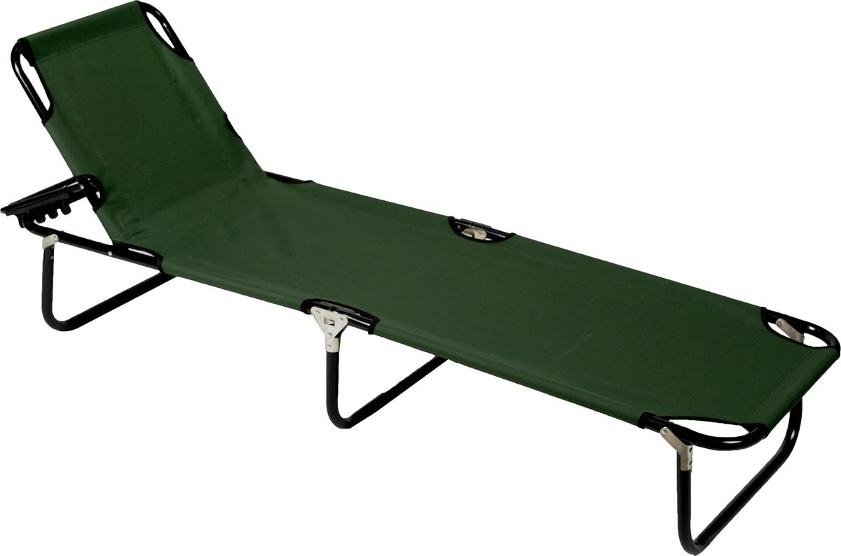 Кровать складная IRIT, цвет: зеленый, черный, 188 х 56 х 2700-00000256Складная кровать IRIT - это незаменимый предмет походной мебели. Она очень удобна в эксплуатации и компактна в сложенном виде. Прочный металлический каркас изделия имеет небольшой вес. Верхняя часть кровати может подниматься и использоваться в качестве подголовника.