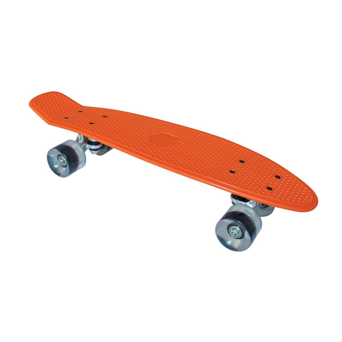 Скейтборд пластиковый Tempish Retro Buffy, цвет: оранжевый8592678027547Скейтборд Retro Buffy - скейт для начинающих райдеров.Tempish - широкоизвестный в Европе чешский бренд спортивных товаров.Основные направления бренда - это инлайновые роликовые коньки, ледовыеконьки и хоккейная амуниция, скейтборды.Скейтборды Tempish - это товары топ-уровня с современным дизайном иизготовленные по лучшим надежным технологиям согласно всем принятымнормам безопасности и качества!
