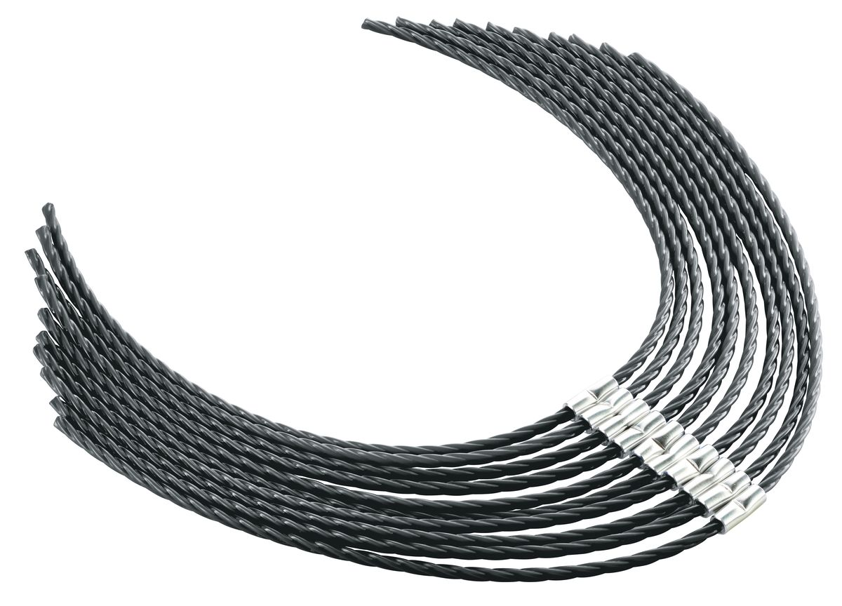 Леска для электрокосы Bosch AFS 23-37F016800431Леска для триммера-электрокосы AFS 23-37. Длина 37 см, толщина 3.5 мм, витая. Материал - суперпрочный нейлон 66. Комплект из 10 шт.
