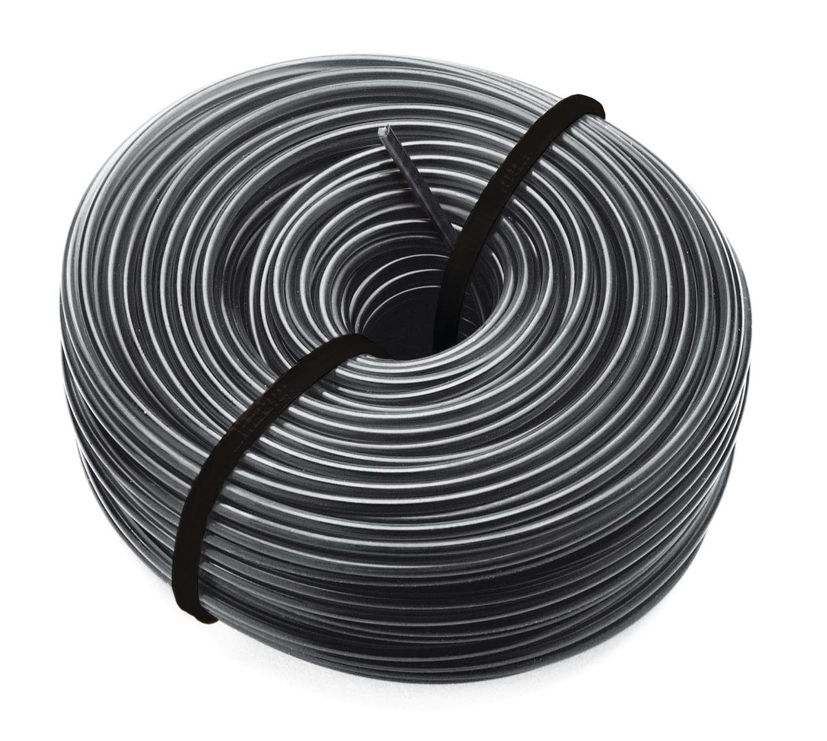 Леска для триммеров Bosch, 1,6 мм х 24 м (кроме ART 37)F016800462Режущая леска круглого сечения Bosch используется в качестве оснастки для садовых триммеров. Предназначена для всех триммеров Bosch кроме ART 37. Леска изгибается, обладает высокой прочностью и жесткостью.Толщина лески: 1,6 мм. Длина лески: 24 м.