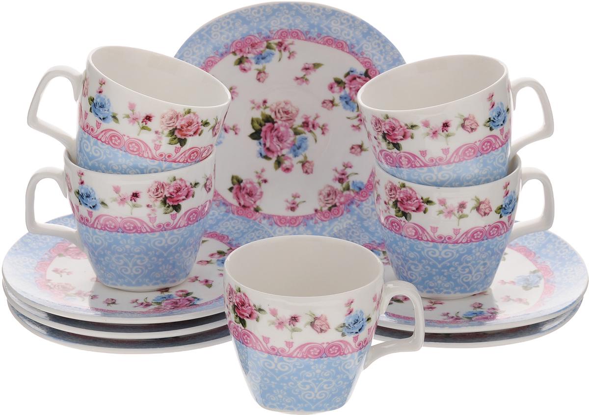 Набор кофейный Loraine Бутон, 12 предметов24756Кофейный набор Loraine Бутон состоит из 6 чашек и 6 блюдец. Изделия выполнены из высококачественного фарфора и оформлены изображением цветов и узоров. Такой набор прекрасно подойдет как для повседневного использования, так и для праздников. Набор Loraine Бутон - это не только яркий и полезный подарок для родных и близких, а также великолепное дизайнерское решение для вашей кухни или столовой. Набор упакован в красивую подарочную коробку.Объем чашки: 80 мл.Диаметр чашки по верхнему краю: 6 см. Высота чашки: 6 см. Размер блюдца по верхнему краю: 12 х 12 см. Высота блюдца: 1,3 см.