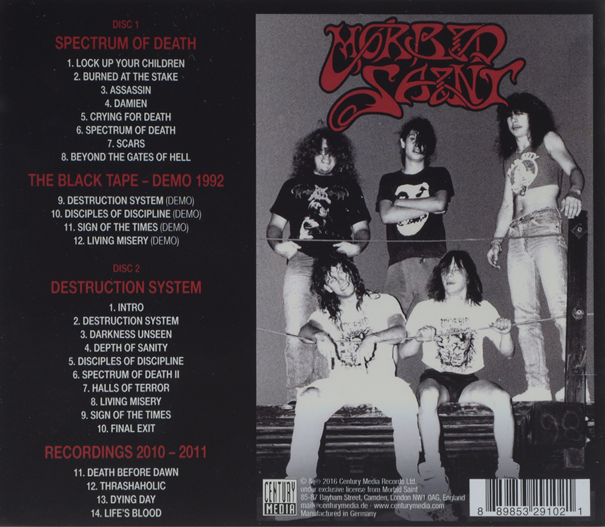 Morbid Saint.  Spectrum Of Death.  Extended Edition (2 CD) Century Media Records Ltd.,Warner Music