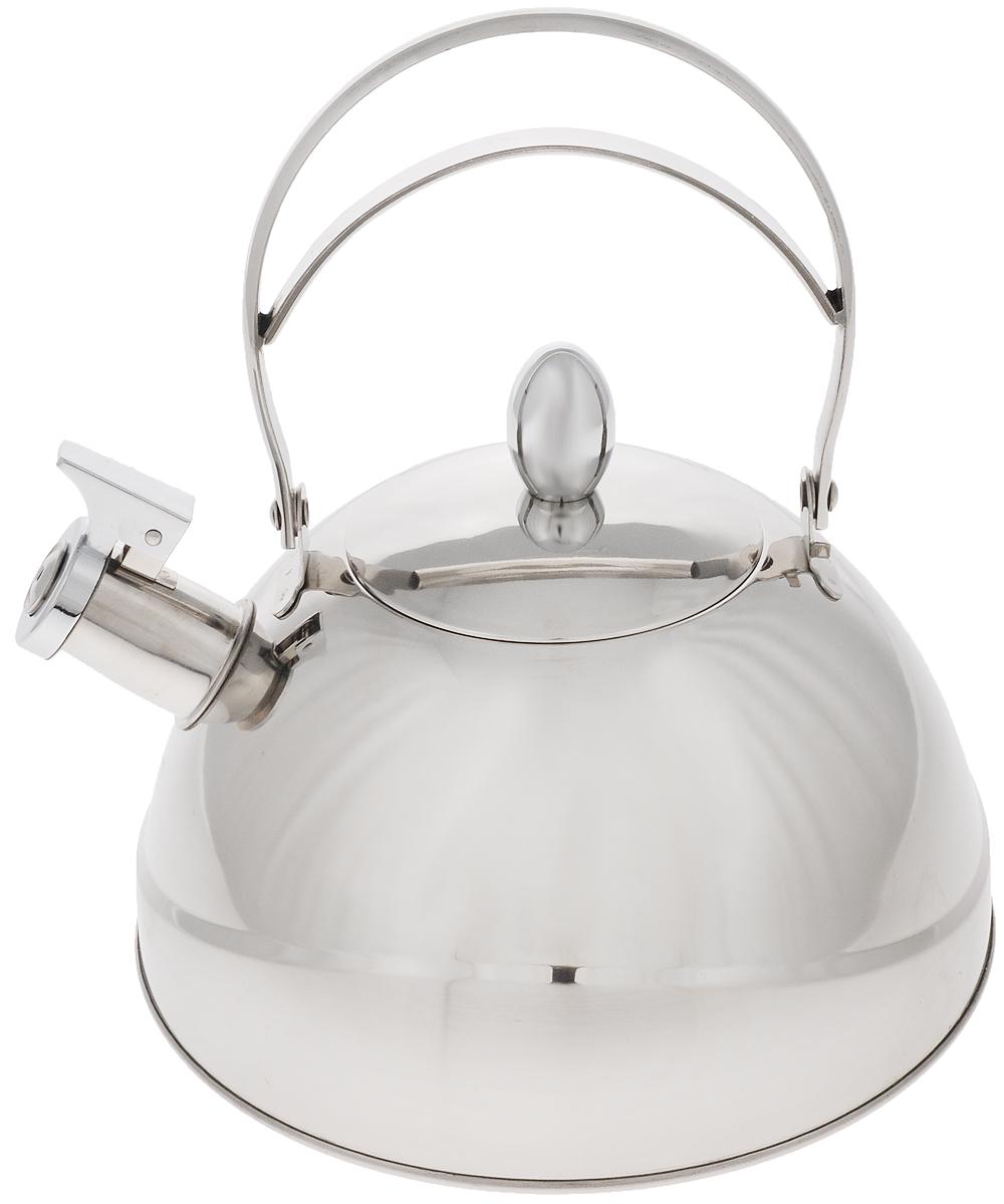 """Чайник """"Mayer & Boch"""" выполнен из нержавеющей стали высокой прочности. При кипячении сохраняет все полезные свойства воды. Весьма гигиеничен и устойчив к износу при длительном использовании. Гладкая и ровная поверхность существенно облегчает уход за посудой. Чайник оснащен свистком, который громко оповестит о закипании воды. Такой чайник идеально впишется в интерьер любой кухни и станет замечательным подарком к любому случаю. Подходит для всех типов плит, включая индукционные. Можно мыть в посудомоечной машине.Диаметр чайника (по верхнему краю): 10 см. Высота чайника (с учетом ручки): 24,5 см.Высота чайника (без учета ручки и крышки): 11,5 см."""