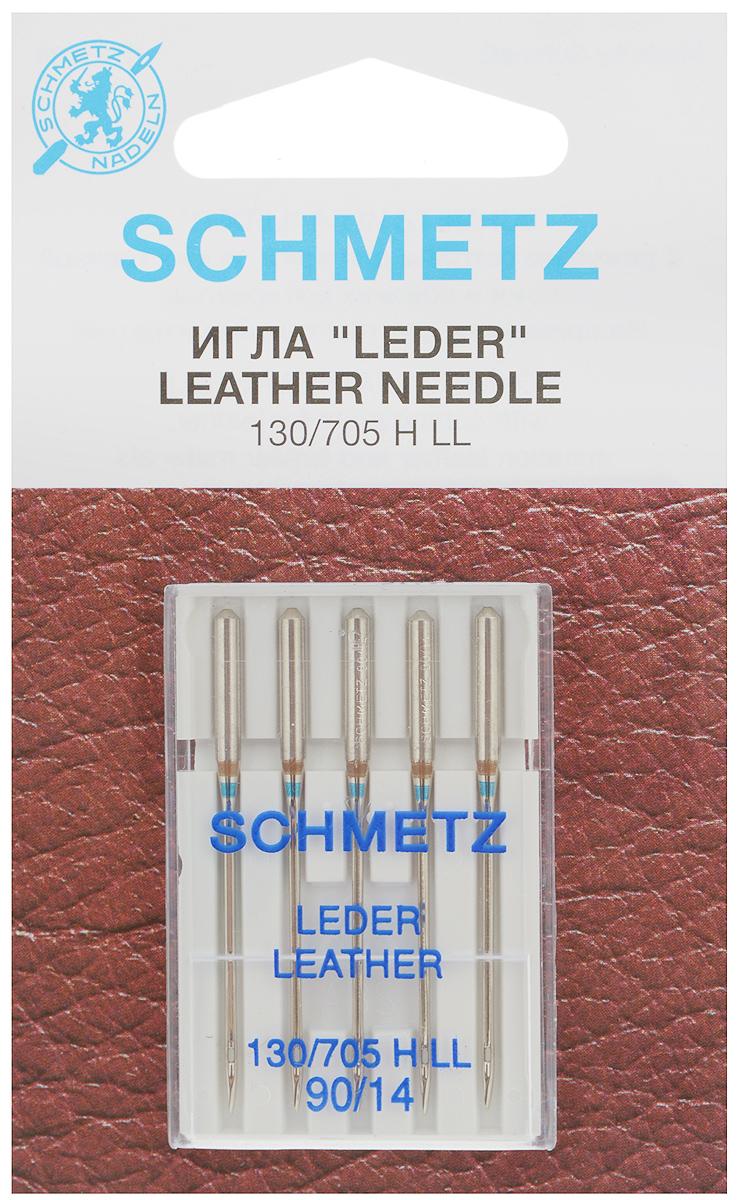 Набор игл для кожи Schmetz Leder, №90, 5 шт22:15.AS2.VDSНабор Schmetz Leder состоит из пяти игл для бытовых швейных машин всех марок. Режущее острие оставляет после прокола аккуратную прорезь. Иглы предназначены для кожи, искусственной кожи и похожих материалов. Не рекомендуется применять для текстильных изделий.Комплектация: 5 шт. Размер игл: №90.Стандарт: 130/705 H LL.