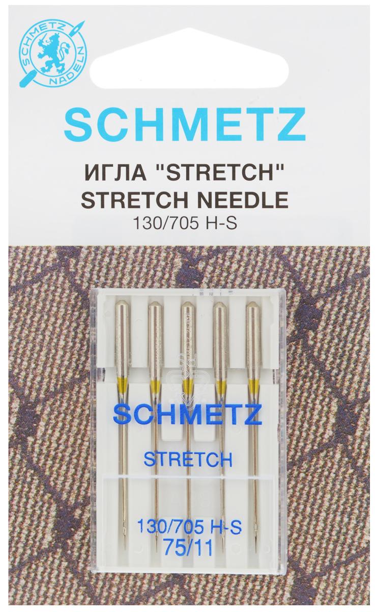 Набор игл Schmetz Stretch, №75, 5 шт22:80.FB2.VMSНабор Schmetz Stretch состоит из пяти игл для большинства бытовых швейных машин. Иглы со средним шарообразным острием, специальной конструкцией ушковой части и выемкой на её стержне. Предназначены для эластичных и высокоэластичных материалов, таких как шёлковый джерси и лайкра.Комплектация: 5 шт.Размер игл: №75. Стандарт: 130/705 H-S.