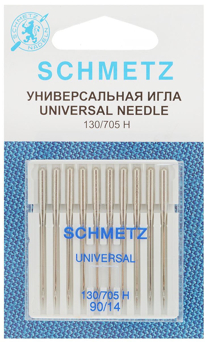 Набор универсальных игл Schmetz, №90, 10 шт иглы для швейных машин schmetz для джинсовой ткани 90 110 5 шт