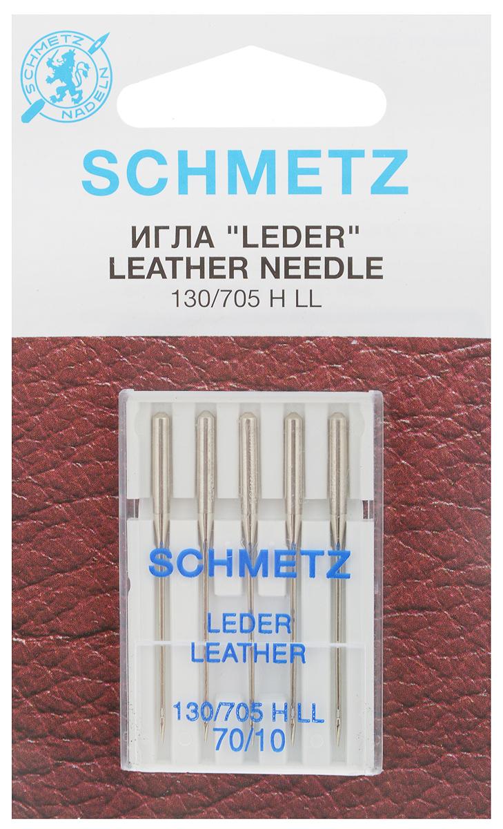 Набор игл для кожи Schmetz Leder, №70, 5 шт22:15.AS2.VBSНабор Schmetz Leder состоит из пяти игл для бытовых швейных машин всех марок. Режущее острие оставляет после прокола аккуратную прорезь. Иглы предназначены для кожи, искусственной кожи и похожих материалов. Не рекомендуется применять для текстильных изделий.Комплектация: 5 шт. Размер игл: №70.Стандарт: 130/705 H LL.
