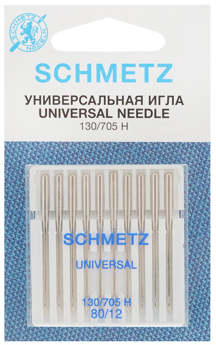 Набор универсальных игл Schmetz, №80, 10 шт22:15.2.XCSНабор Schmetz состоит из десяти универсальных игл для бытовых швейных машин. Иглы имеют слегка закругленное острие. Предназначены для большинства видов текстильных материалов, в том числе джерси, синтетики и других.Комплектация: 10 шт. Размер игл: №80.Стандарт: 130/705 H.