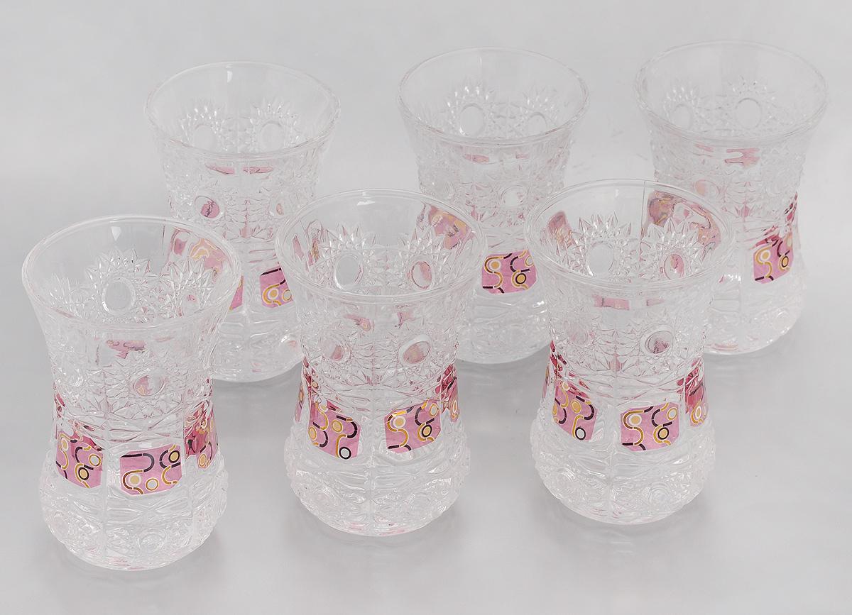 Набор стаканов Loraine, 130 мл, 6 шт. 2467524675Набор Loraine состоит из 6 стаканов, выполненных из высококачественного стекла. Изделия декорированы изысканным рельефом и оригинальным орнаментом. Благодаря такому набору пить напитки будет еще вкуснее. Набор стаканов Loraine станет также отличным подарком на любой праздник. Подходит для горячих и холодных напитков. Не рекомендуется мыть в посудомоечной машине. Диаметр стакана по верхнему краю: 6,5 см. Высота стакана: 9 см.