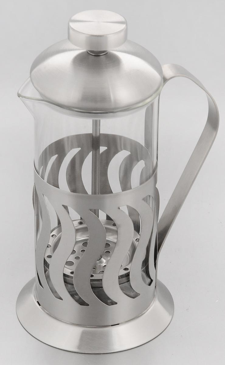 Френч-пресс Mayer & Boch, 350 мл. 22902290Френч-пресс Mayer & Boch позволит быстро и простоприготовить свежий и ароматный чай или кофе. Колбаизготовлена из высококачественного жаропрочногоборосиликатного стекла, устойчивого к окрашиванию,царапинам и термошоку. Фильтр-поршень изнержавеющей стали выполнен по технологии press-upдля обеспечения равномерной циркуляции воды.Подставка из нержавеющей стали декорированаоригинальной перфорацией.Готовить напитки с помощью френч-пресса оченьпросто. Насыпьте внутрь заварку и залейте кипятком.Остановить процесс заваривания легко. Для этогонужно просто опустить поршень, и заварка уйдет вниз,оставляя вверху напиток, готовый к употреблению.Заварочный чайник с прессом - это совершенныйчайник для ежедневного использования.Диаметр колбы: 7 см.Диаметр основания френч-пресса: 9 см.Высота (с учетом крышки): 18,5 см.