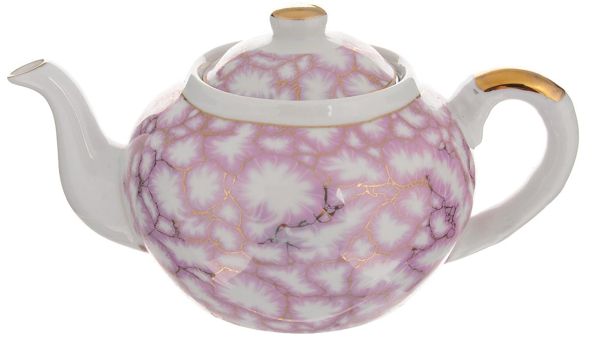 Чайник заварочный Loraine, с фильтром, 1 л. 2112121121Заварочный чайник Loraine изготовлен из высококачественной керамики и оснащен металлическим фильтром. Он поможет вам в приготовлении вкусного и ароматного чая, а также станет украшением вашей кухни. Яркий рисунок придает чайнику особый шарм, он удобен в использовании и понравится каждому. Такой заварочный чайник станет приятным и практичным подарком на любой праздник.Чайник упакован в подарочную коробку. Диаметр по верхнему краю: 8,5 см. Высота чайника (с учетом крышки): 11,5 см.Высота фильтра: 5 см.