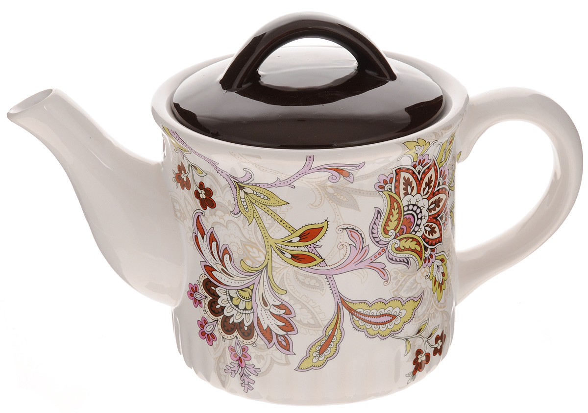 Чайник заварочный Loraine, 850 мл. 2485124851Заварочный чайник Loraine изготовлен извысококачественного доломита и оформлен красочнымрисунком. Гладкая и идеально ровная поверхностьобеспечивает легкую очистку.Чайник поможет заварить крепкий ароматный чай ивеликолепно украсит стол к чаепитию.Можно использовать в микроволновой печи и мыть впосудомоечной машине.Диаметр чайника по верхнему краю: 9 см.Высота чайника (без учета крышки): 11,5 см.