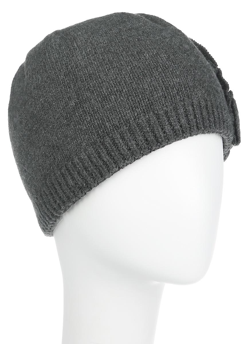 Шапка женская Fabretti, цвет: серый. 2013-37-Dark gray. Размер универсальный2013-37-Dark grayСтильная женская шапкаFabrettiотлично дополнит ваш образ и защитит от холода. Сочетание шерсти и полиамида максимально сохраняет тепло и обеспечивает удобную посадку. Классическаявязаная шапка декорирована стразами с левой стороны.Такая шапка станет отличным дополнением к вашему осеннему или зимнему гардеробу, в ней вам будет уютно и тепло!