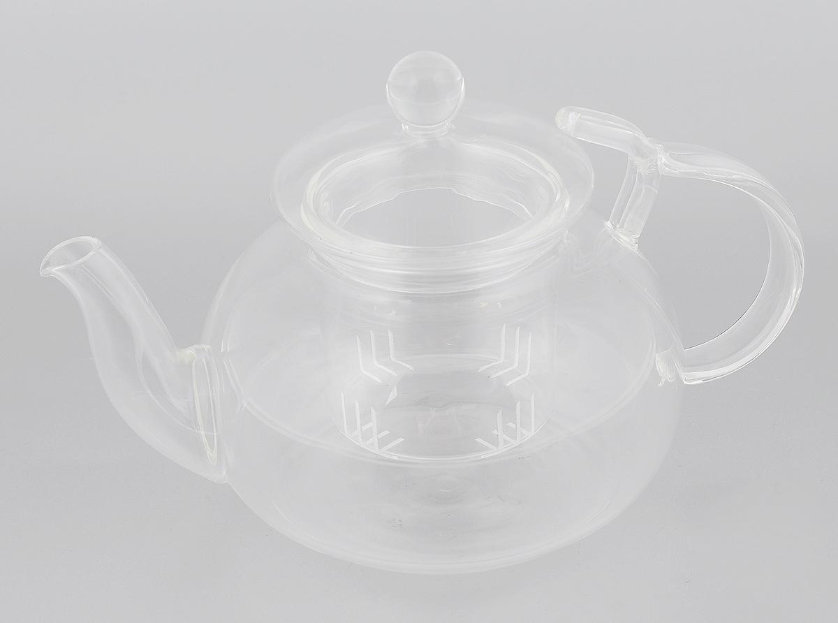 Чайник заварочный Mayer & Boch, с фильтром, 650 мл. 2493924939Заварочный чайник Mayer & Boch, выполненный из термостойкого боросиликатного стекла, предоставит вам все необходимые возможности для успешного заваривания чая. Изделие оснащено ручкой, крышкой и фильтром, который задерживает чаинки и предотвращает их попадание в чашку. Чай в таком чайнике дольше остается горячим, а полезные и ароматические вещества полностью сохраняются в напитке. Эстетичный и функциональный чайник будет оригинально смотреться в любом интерьере. Не рекомендуется мыть в посудомоечной машине.Диаметр чайника (по верхнему краю): 6 см. Высота чайника (без учета ручки и крышки): 8,5 см. Высота фильтра: 6,5 см.