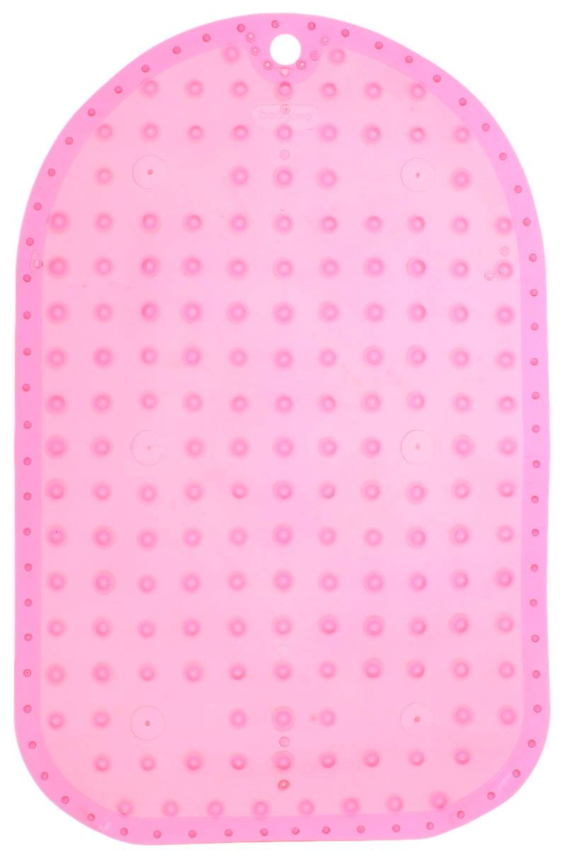 BabyOno Коврик противоскользящий для ванной цвет розовый 55 х 35 см1345_розовыйКоврик противоскользящий для ванной BabyOno предназначен для детских ванночек, ванн и душевых кабин. Имеет присоски, исключающие перемещение коврика по поверхности.Для правильного закрепления коврика следует сначала наполнить ванну водой, а затем вложить коврик и равномерно прижать с каждой стороны.Во время купания ребенок должен находиться под постоянным присмотром взрослого. Перед первым и после каждого купания коврик следует промыть в теплой воде с добавлением детского мыла, ополоснуть и высушить. Изделие не является игрушкой. Хранить в месте, недоступном для детей. Не содержит фталатов.Товар сертифицирован.