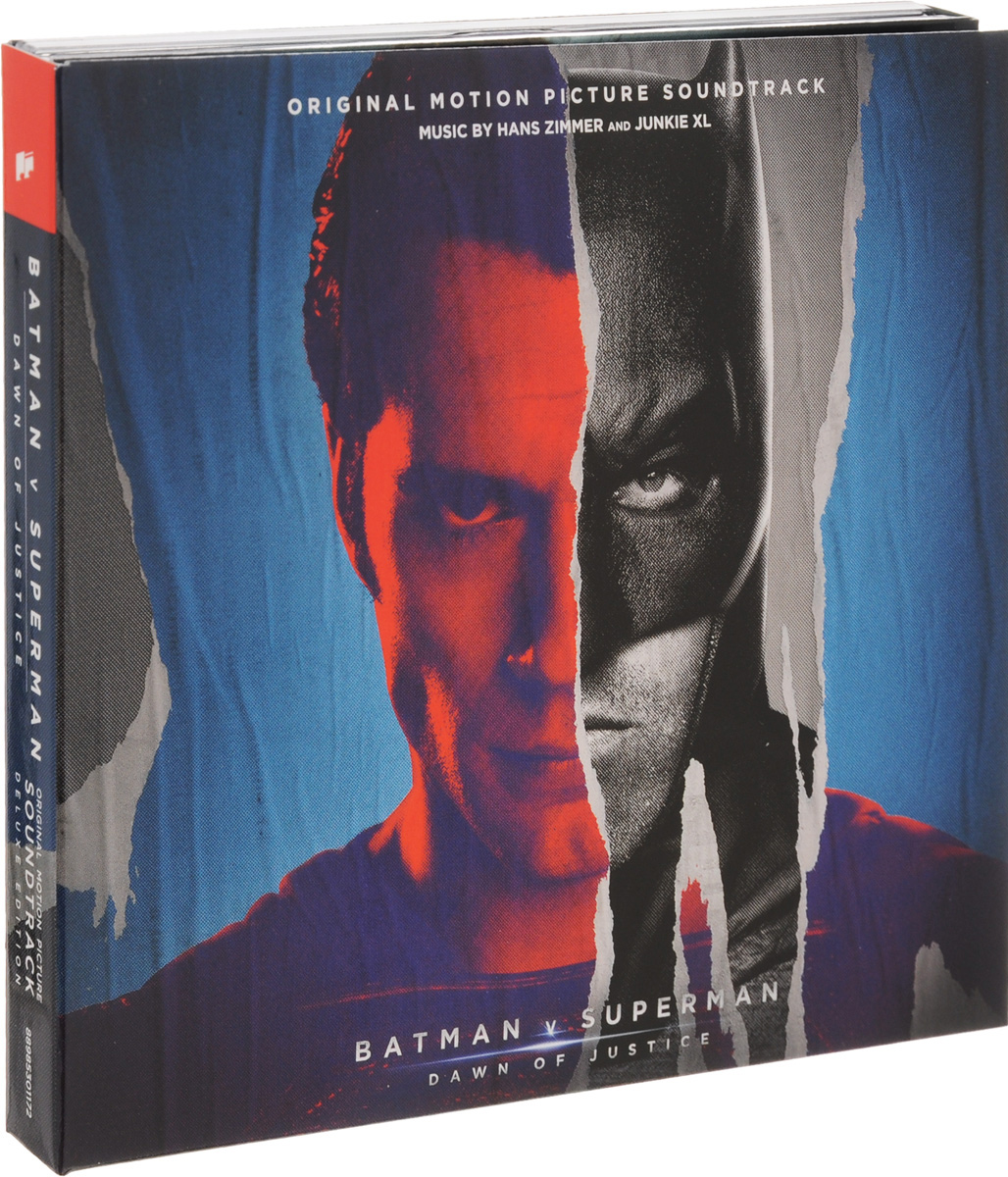 Hans Zimmer, Junkie XL. Batman V Superman. Dawn Of Justice. Original Motion Picture Soundtrack. Deluxe Edition (2 CD) hans zimmer hans zimmer live in prague 4 lp