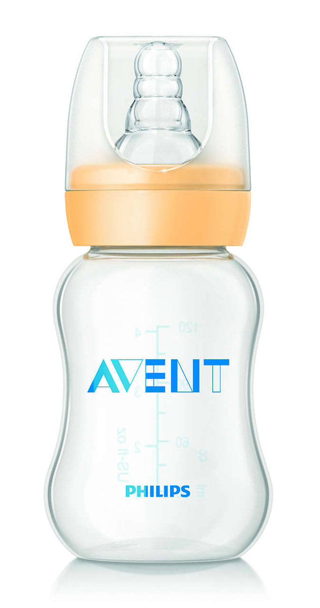 Philips Avent Бутылочка для кормления Standard от 0 до 6 месяцев 125 мл SCF970/17 бутылочка для кормления philips avent standard с силиконовой соской 0 125 мл
