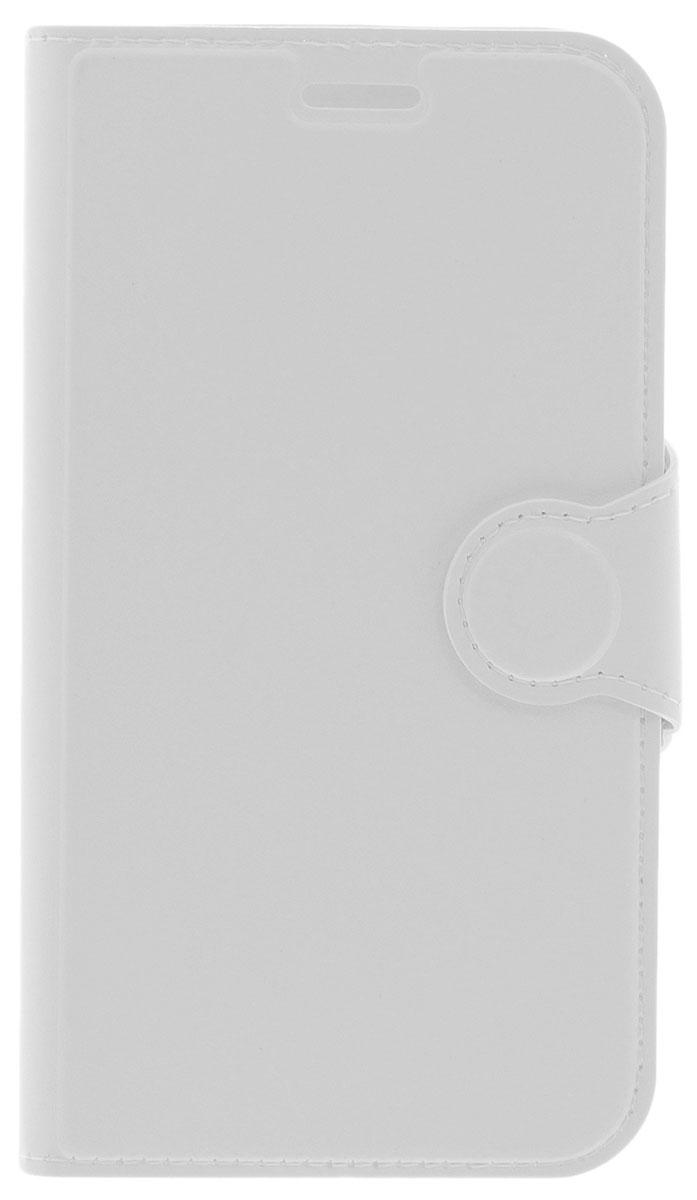 Red Line Book Type чехол-книжка для Samsung Galaxy J1 (2016), White redline для samsung galaxy j1 2016 white