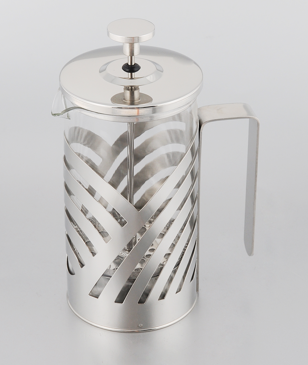 Френч-пресс Mayer & Boch, 600 мл. 2322123221Френч-пресс Mayer & Boch позволит быстро и просто приготовить свежий и ароматный чай или кофе. Корпусизготовлен из высококачественного жаропрочного боросиликатного стекла, устойчивого к окрашиванию,царапинам и термошоку. Фильтр-поршень из нержавеющей стали выполнен по технологии press-up дляобеспечения равномерной циркуляции воды.Готовить напитки с помощью френч-пресса очень просто. Насыпьте внутрь заварку и залейте кипятком.Остановить процесс заваривания легко. Для этого нужно просто опустить поршень, и заварка уйдет вниз,оставляя вверху напиток, готовый к употреблению.Заварочный чайник с прессом - это совершенный чайник для ежедневного использования. Практичный и стильныйдизайн полностью соответствует последним модным тенденциям в создании предметов кухонной утвари.Диаметр: 9 см.Высота (с учетом крышки): 19,5 см.