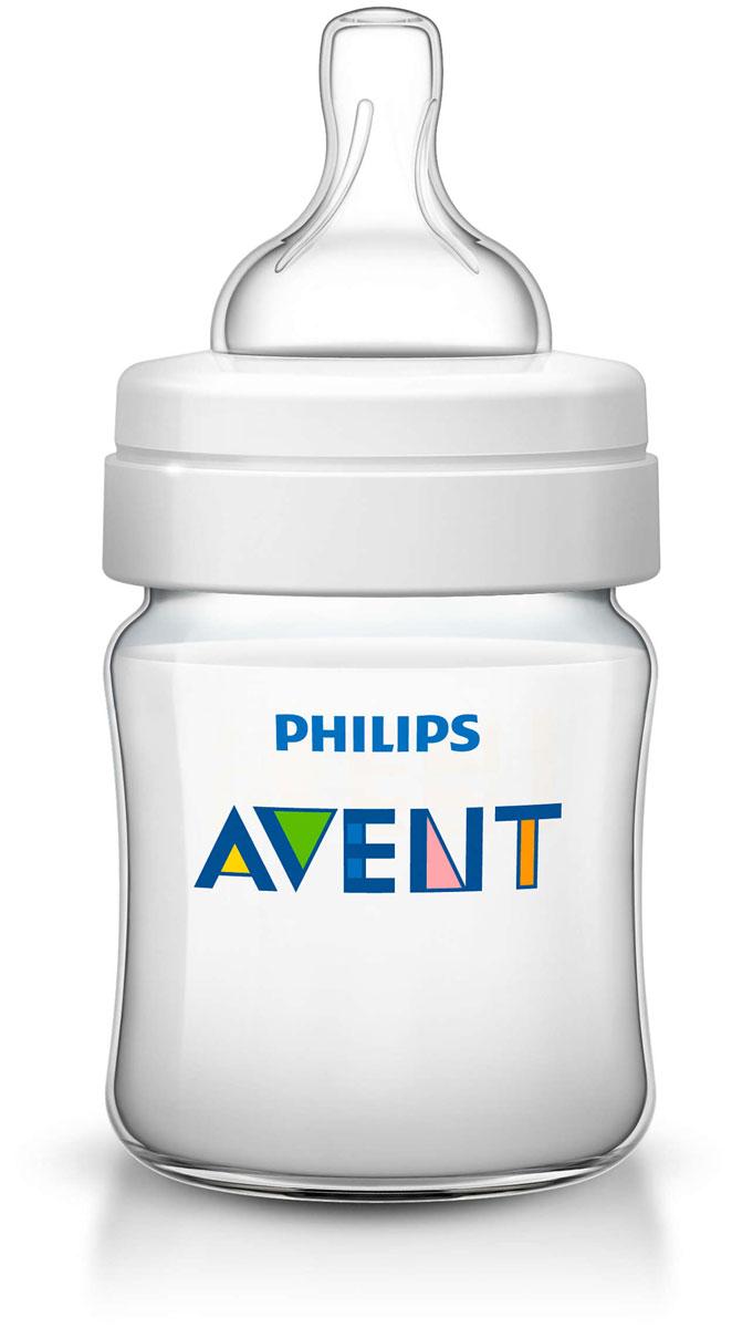 Philips Avent Бутылочка 125 мл, 1 шт. Соска с потоком для новорожденного SCF560/17 -  Бутылочки