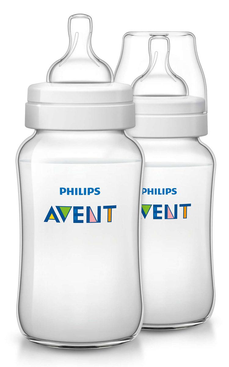 Philips Avent Бутылочка 330 мл, 2 шт. Соска со средним потоком для детей от 3 месяцев SCF566/27 -  Бутылочки