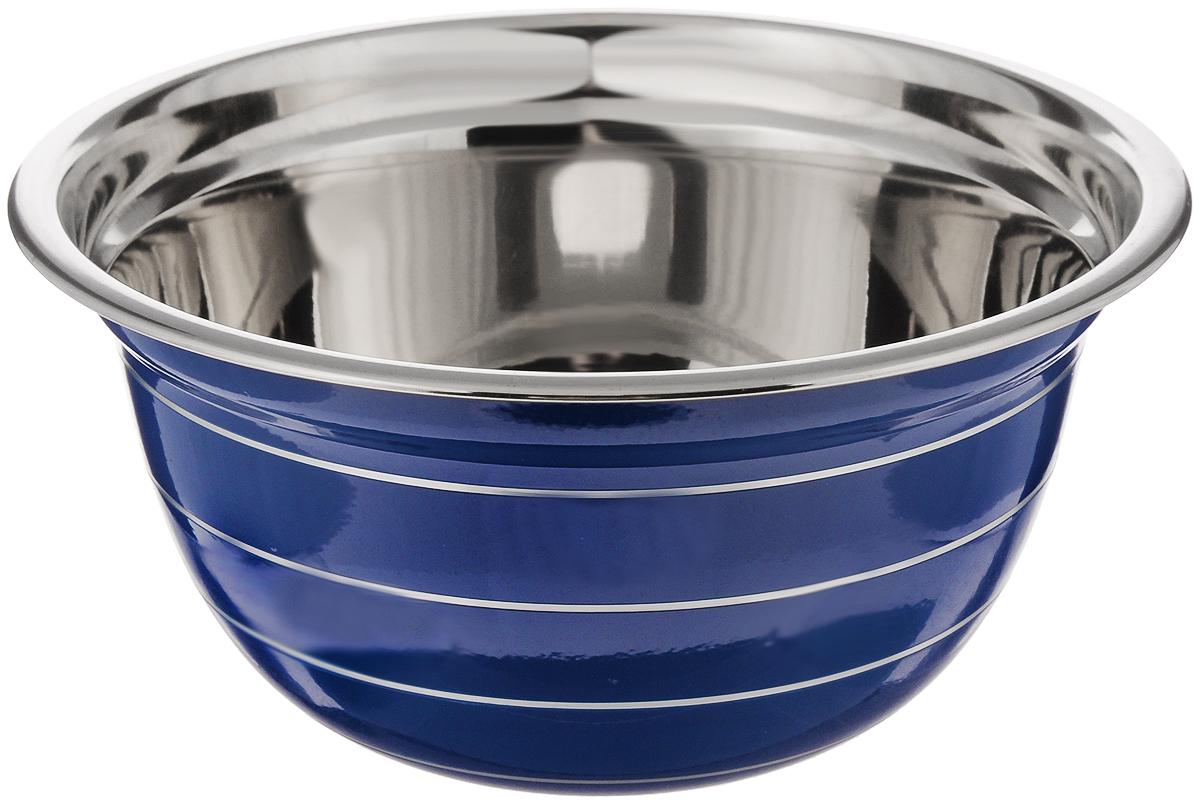 Миска Mayer & Boch, цвет: синий, стальной, диаметр 20 см30215Миска Mayer & Boch изготовлена из качественной нержавеющей стали. Изделие имеет внешнее эмалированное покрытие. Используется для сервировки и приготовления салатов и других блюд. Такая миска пригодится на любой кухне и поможет вам в приготовлении пищи. Диаметр (по верхнему краю): 20 см. Высота стенки: 9,5 см.