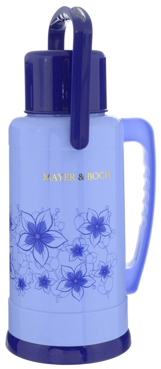 Термос Mayer & Boch, 3,2 л. 2370823708Термос Mayer & Boch пригодится в любой ситуации: будь то экстремальный поход, пикник или поездка. Корпус термоса, выполненный из цветного пищевого полипропилена (пластика), декорирован цветочным узором. Для удобства переноски предусмотрена подвижная ручка. Колба термоса изготовлена из стекла, которое является экологически чистым материалом и прекрасно держит температуру. Пробка с силиконовой прослойкой плотно закрывает емкость и предотвращает проливание жидкости. Удобный носик позволит аккуратно налить напиток в съемную чашу, боковая ручка поможет крепко удерживать термос. Термос Mayer & Boch - это идеальный вариант для большой компании и дальней поездки. В него поместится большой объем жидкости, и вы в любое время сможете насладиться любимыми напитками. Диаметр горлышка: 4 см. Диаметр съемной чаши: 11 см. Высота съемной чаши: 8 см. Диаметр основания термоса: 17,5 см. Высота термоса: 40 см.