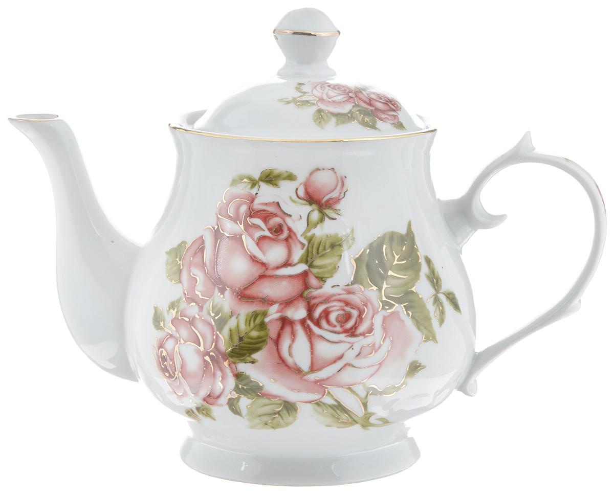 Чайник заварочный Loraine, 800 мл. 2458224582Заварочный чайник Loraine изготовлен из высококачественной керамики. Он имеет изящную форму и декорирован нежным цветочным рисунком. Чайник сочетает в себе стильный дизайн с максимальной функциональностью. Красочность оформления придется по вкусу и ценителям классики, и тем, кто предпочитает утонченность и изысканность. Чайник упакован в подарочную коробку из плотного картона. Внутренняя часть коробки задрапирована атласом, и чайник надежно крепится в определенном положении благодаря особым выемкам в коробке. Высота чайника (без учета крышки): 12 см. Высота чайника (с учетом крышки): 16 см. Диаметр чайника (по верхнему краю): 9 см. Диаметр основания чайника: 8,5 см.