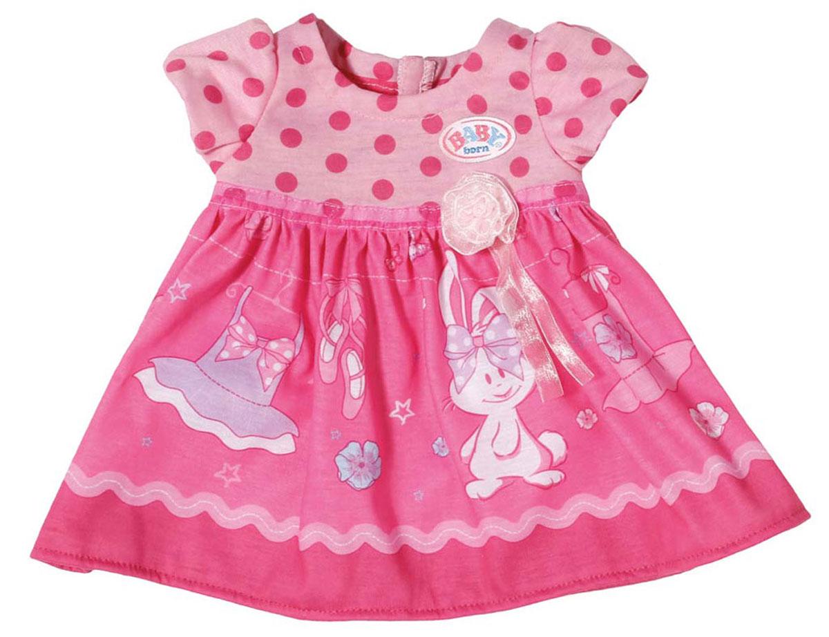 Baby Born Платье для куклы цвет темно-розовый baby born подгузники для куклы