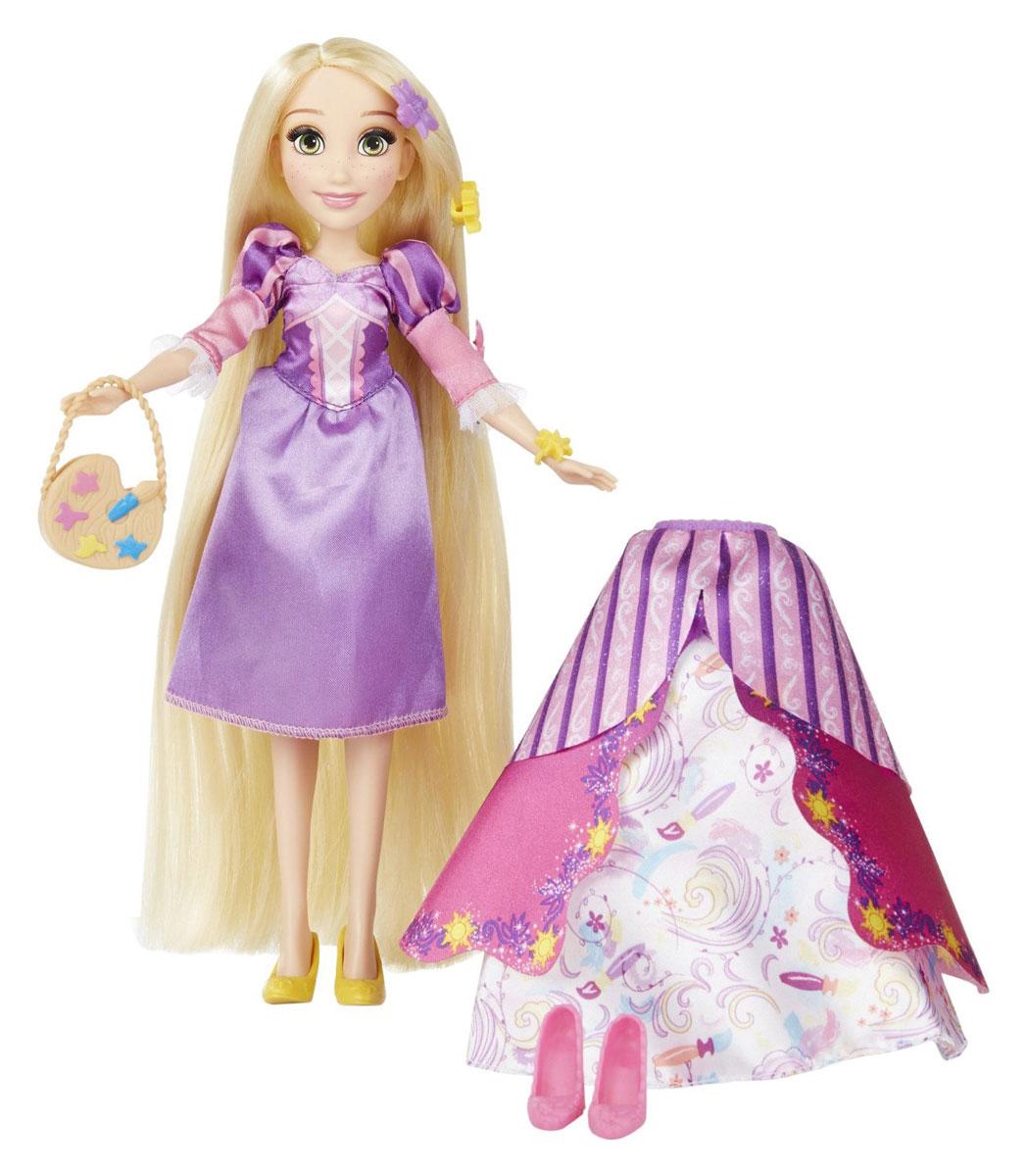 Disney Princess Кукла Рапунцель в платье со сменными юбками кукла рапунцель со светящимися волосами принцессы дисней