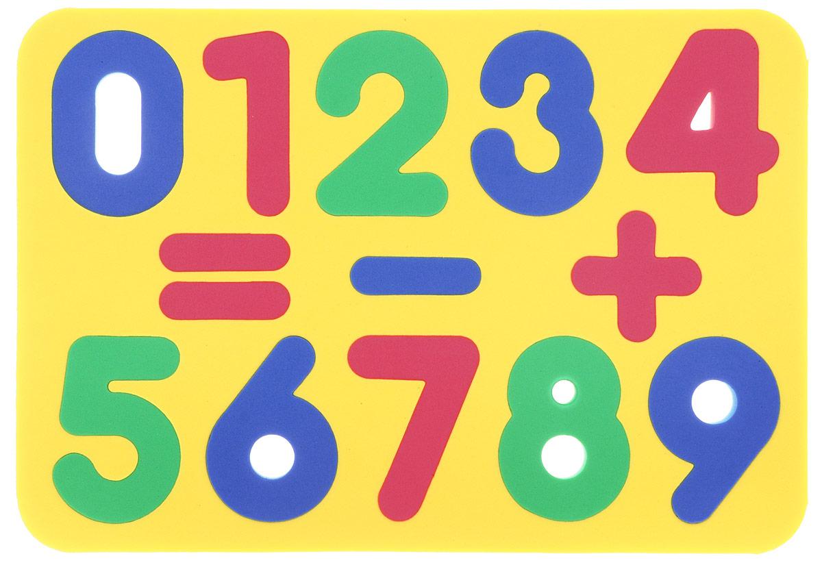 Бомик Пазл для малышей Цифры цвет основы желтый апплика пазл для малышей английский алфавит цвет основы желтый