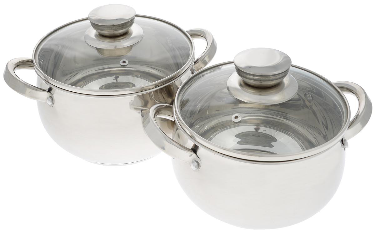 Набор кастрюль Mayer & Boch с крышками, 4 предмета. 25154 kitchenaid kblr04nsac набор из 4 керамических кастрюль для запекания cream