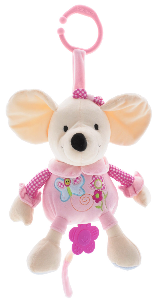BabyOno Музыкальная игрушка-подвеска Мышка babyono книжка игрушка камера