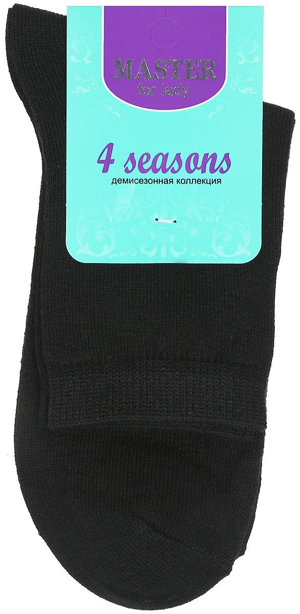 Носки женские Master Socks, цвет: черный. 55060. Размер 2355060Удобные носки Master Socks, изготовленные из высококачественного комбинированного материала, очень мягкие и приятные на ощупь, позволяют коже дышать. Эластичная резинка плотно облегает ногу, не сдавливая ее, обеспечивая комфорт и удобство. Носки с паголенком классической длины. Практичные и комфортные носки великолепно подойдут к любой вашей обуви.