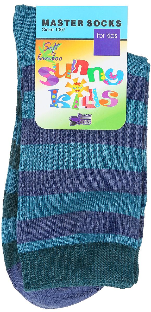Носки детские Master Socks Sunny Kids, цвет: темно-бирюзовый. 82602. Размер 1482602Детские носки Master Socks Sunny Kids изготовлены из высококачественных материалов. Ткань очень мягкая и тактильно приятная. Содержание бамбука в составе обеспечивает высокую прочность, эластичность и воздухопроницаемость. Изделие хорошо стирается, длительное время сохраняет привлекательный внешний вид. Эластичная резинка мягко облегает ножку ребенка, обеспечивая удобство и комфорт. Модель оформлена принтом в полоску. Удобные и прочные носочки станут отличным дополнением к детскому гардеробу!Уважаемые клиенты!Размер, доступный для заказа, является длиной стопы.