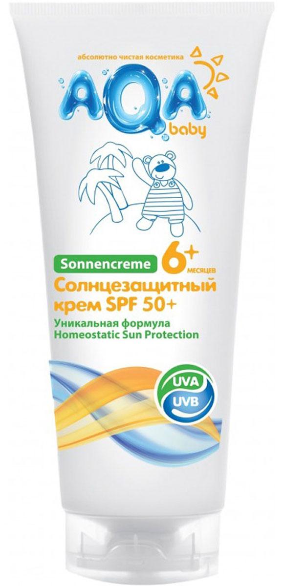 AQA baby Крем детский солнцезащитный 75 мл4680018260960Крем надежно защищает нежную кожу даже самых маленьких детей от воздействия солнечных лучей.Инновационная формула обеспечивает улучшенный биосинтез витамина D, двойную защиту от UVA-лучей, профилактику старения кожи.Крем быстро впитывается, не оставляет ощущения липкости. Содержит масло Ши, которое увлажняет кожу и препятствует сухости и шелушению.Рекомендуемый возраст - от 6 месяцев.