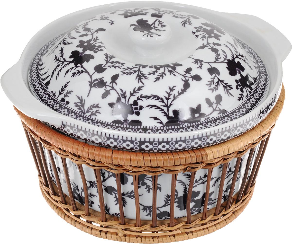 Супница Mayer & Boch с крышкой, с корзиной, 1,8 л24791Супница Mayer & Boch выполнена из фарфора и оснащена плотно прилегающей крышкой. Супница оформлена красивым рисунком иоснащена ручками.Изделие предназначено для красивой подачи супа и сервировки стола. Яркий дизайн, несомненно, придетсявам по вкусу.Посуду можно использовать в микроволновой печи, духовке и холодильнике. Можно мыть в посудомоечноймашине. Диаметр супницы: 20 см. Высота стенок супницы: 9,5 см. Высота супницы (с учетом крышки): 13 см. Ширина супницы (с учетом ручек): 23,5 см. Объем: 1,8 л.