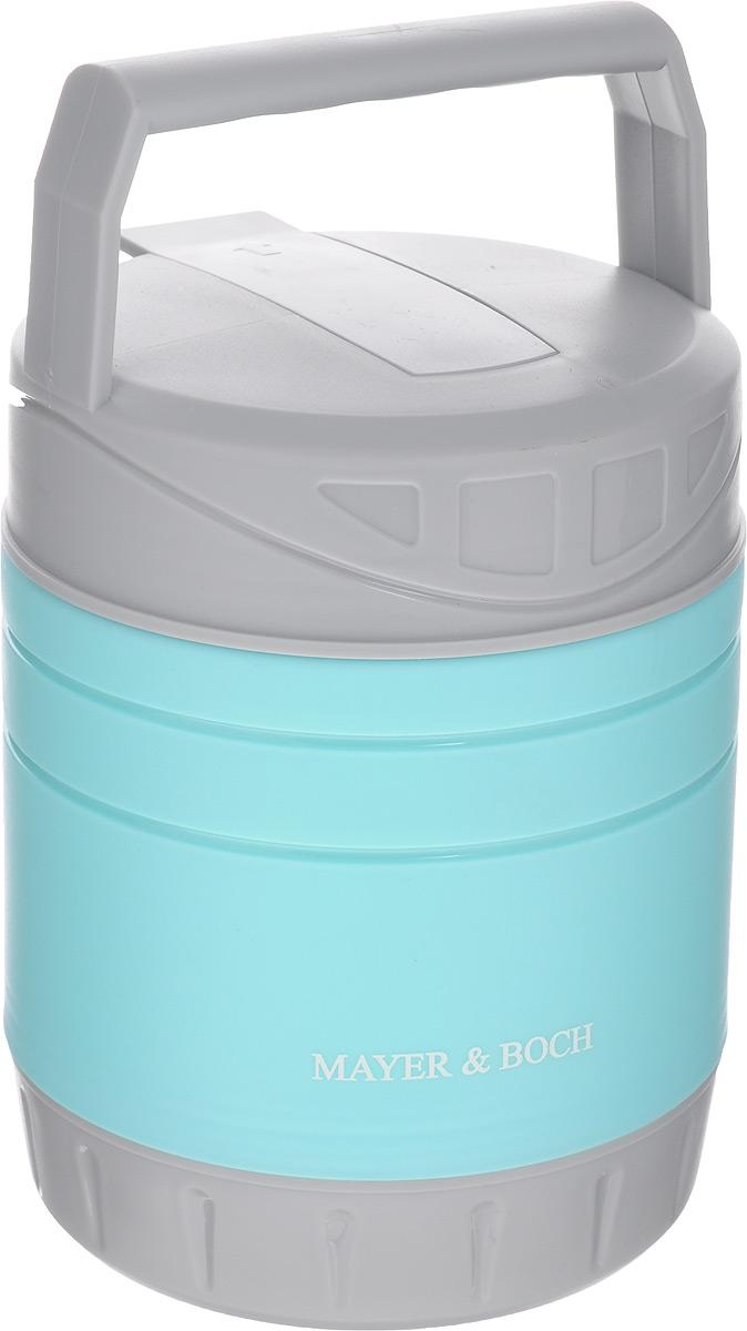 Термос пищевой Mayer & Boch, с контейнером, 1 л23800Термос пищевой Mayer & Boch предназначен для длительного хранения горячих и холодных блюд. Корпус выполнен из полипропилена, внутренний резервуар - из высококачественной нержавеющей стали, не вступающей в реакцию с продуктами. В комплекте предусмотрен пластиковый пищевой контейнер, а также ложка, которая хранится в специальном отделении в крышке термоса. Благодаря эргономичной форме и ручке, термос удобно транспортировать. Данный термос обладает не только прекрасными термоизоляционными качествами, но и непревзойденной надежностью. Он идеально подойдет для обедов на работе или для отдыха на природе. Диаметр контейнера: 10,5 см. Высота контейнера: 5,5 см. Длина ложки: 18 см. Диаметр термоса: 11,5 см. Высота термоса (без учета ручки): 15,5 см. Высота термоса (с учетом ручки): 22,5 см.