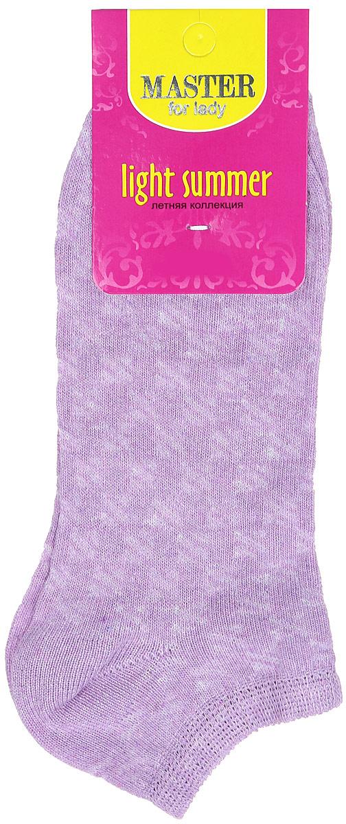 Носки женские Master Socks, цвет: фиолетовый. 55059. Размер 2355059Удобные носки Master Socks, изготовленные из высококачественного комбинированного материала, очень мягкие и приятные на ощупь, позволяют коже дышать.Эластичная резинка плотно облегает ногу, не сдавливая ее, обеспечивая комфорт и удобство. Модель с укороченным паголенком оформлена полупрозрачным орнаментом.Удобные и комфортные носки великолепно подойдут к любой вашей обуви.