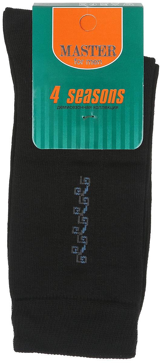 Носки мужские Master Socks, цвет: черный, голубой. 58018. Размер 2758018Удобные носки Master Socks, изготовленные из высококачественного комбинированного материала, очень мягкие и приятные на ощупь, позволяют коже дышать. Эластичная резинка плотно облегает ногу, не сдавливая ее, обеспечивая комфорт и удобство. Носки с паголенком классической длины оформлены небольшим орнаментом в верхней части носка. Практичные и комфортные носки великолепно подойдут к любой вашей обуви.
