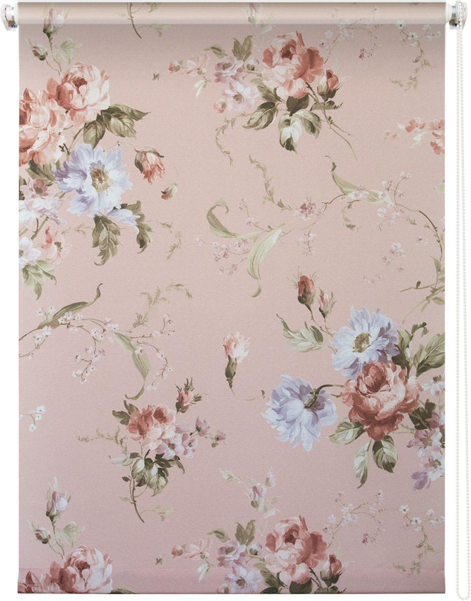 Штора рулонная Уют Розарий, цвет: светло-розовый, 140 х 175 см62.РШТО.8959.140х175Штора рулонная Уют Розарий выполнена из прочного полиэстера с обработкой специальным составом, отталкивающим пыль. Ткань не выцветает, обладает отличной цветоустойчивостью и хорошей светонепроницаемостью. Изделие оформлено нежным цветочным рисунком, отлично подойдет для спальни, гостиной, кухни или столовой. Штора закрывает не весь оконный проем, а непосредственно само стекло и может фиксироваться в любом положении. Она быстро убирается и надежно защищает от посторонних взглядов. Компактность помогает сэкономить пространство. Универсальная конструкция позволяет крепить штору на раму без сверления, также можно монтировать на стену, потолок, створки, в проем, ниши, на деревянные или пластиковые рамы. В комплект входят регулируемые установочные кронштейны и набор для боковой фиксации шторы. Возможна установка с управлением цепочкой как справа, так и слева. Изделие при желании можно самостоятельно уменьшить. Такая штора станет прекрасным элементом декора окна и гармонично впишется в интерьер любого помещения.
