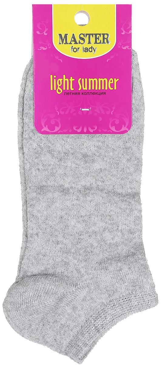 Носки женские Master Socks, цвет: серый. 55059. Размер 2555059Удобные носки Master Socks, изготовленные из высококачественного комбинированного материала, очень мягкие и приятные на ощупь, позволяют коже дышать.Эластичная резинка плотно облегает ногу, не сдавливая ее, обеспечивая комфорт и удобство. Модель с укороченным паголенком оформлена полупрозрачным орнаментом.Удобные и комфортные носки великолепно подойдут к любой вашей обуви.