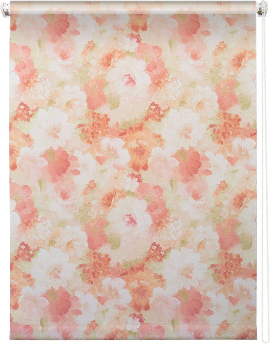 "Штора рулонная Уют ""Пионы"", цвет: розовый, 80 х 175 см"