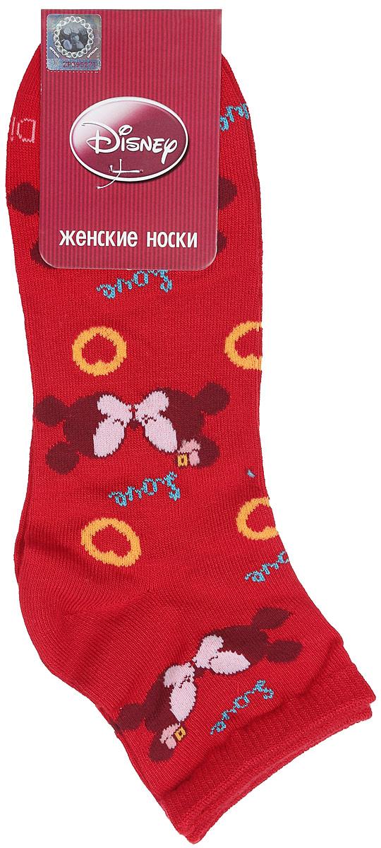 Носки женские Master Socks, цвет: красный. 15861. Размер 2515861Удобные укороченные носки Master Socks, изготовленные из высококачественного комбинированного материала, очень мягкие и приятные на ощупь, позволяют коже дышать.Эластичная резинка плотно облегает ногу, не сдавливая ее, обеспечивая комфорт и удобство. Носки оформлены принтом с изображением героев мультфильма.Практичные и комфортные носки великолепно подойдут к любой вашей обуви.