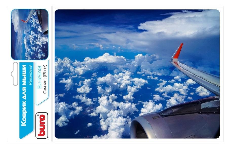 Коврик для мыши Buro BU-R51748 коврик для мыши buro bu r51748 рисунок самолет