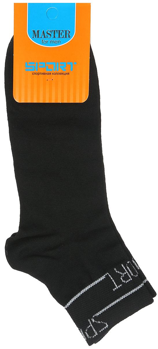 Носки мужские Master Socks, цвет: черный. 58903. Размер 2558903Удобные носки Master Socks, изготовленные из высококачественного комбинированного материала, очень мягкие и приятные на ощупь, позволяют коже дышать. Эластичная резинка плотно облегает ногу, не сдавливая ее, обеспечивая комфорт и удобство. Носки с укороченным паголенком и надписью Sports на верхней части носка. Удобные и комфортные носки великолепно подойдут к любой вашей обуви.